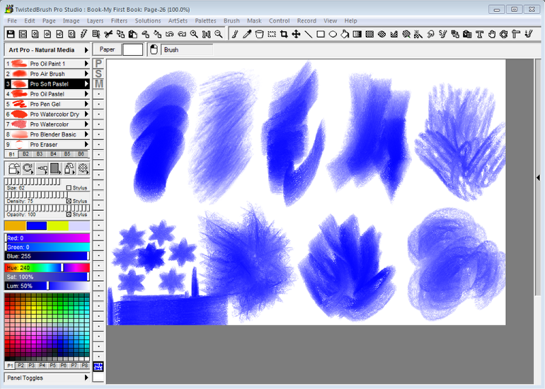 Brush modifiers - an easy way to change the shape, size, rotation, color, pattern and texture of brushes