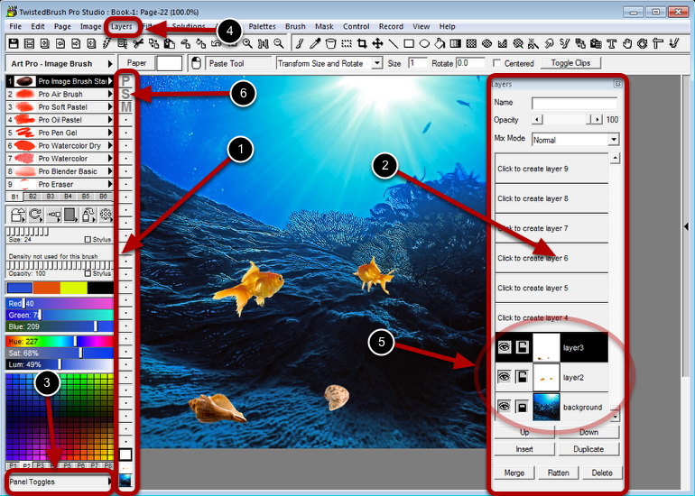 Supported Layers - allow you to work on elements of your image without impacting other areas