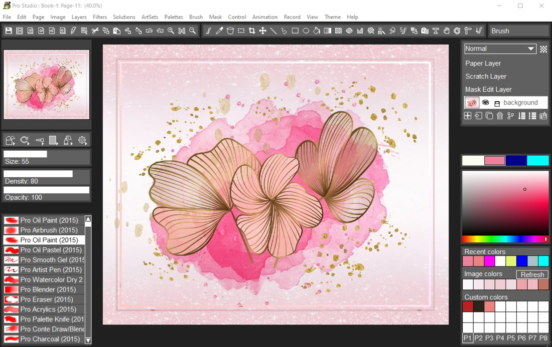 Digital paint software and photo editor with natural art tools. TwistedBrush has one of the most versatile and powerful brush engines in existence, yet it as designed from day one to be easy to use.